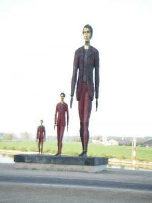 kunstwerk bij de IJsselkade