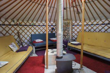 overzicht binnenkant Yurt